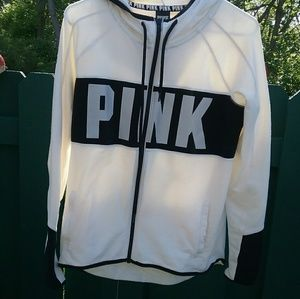 Pink Victoria's Secret Reflective Full Zip Hoodie